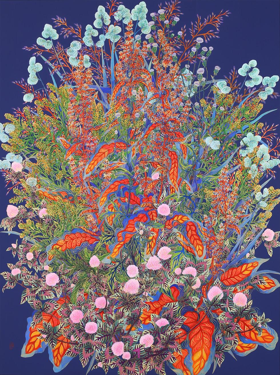 [충무로갤러리]제미영_5월의 부케I 130.3×97㎝ 비단에 채색과 금분 2019.jpg