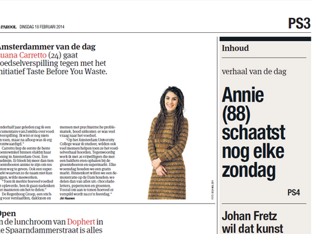 Het Parool: Amsterdammer Van De Dag: Luana Carretto