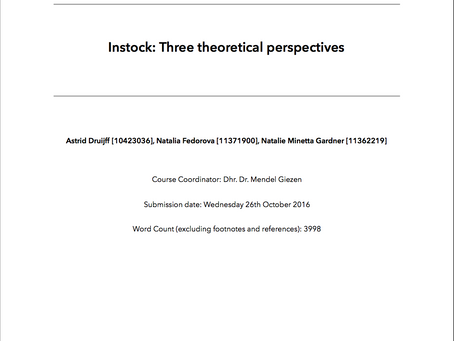 Instock: Three Theoretical Perspectives