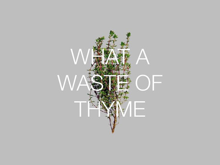 Food waste, a waste of time?