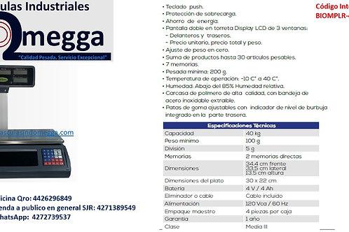 Báscula Comercial PLR-40T