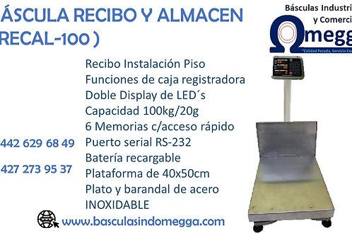 Báscula Recibo Y Almacén.