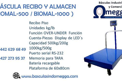 BÁSCULA RECIBO Y ALMACÉN