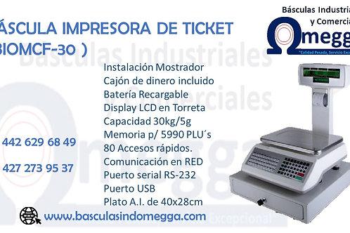 Báscula Impresora de Ticket