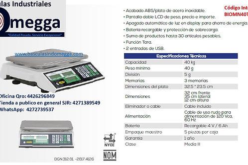Báscula Comercial USB 40TN