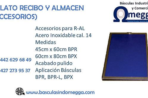 PLATO RECIBO Y ALMACÉN