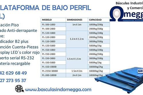 PLATAFORMA DE BAJO PERFIL