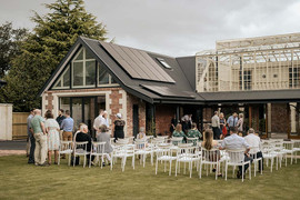 Wedding ceremony at The Britten Stables