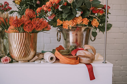 Christmas floral wreath making workshop and casual lunch