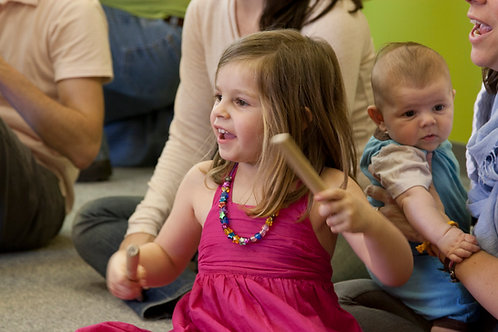 FAMILY MUSIC - MIXED AGES - (Ages 1 - 4 yrs) - Sat. - Time TBA