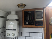 Water heater & control pannel