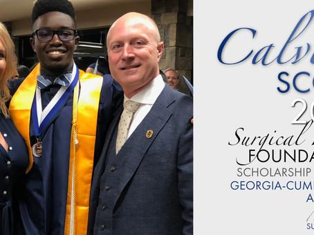 2019 Surgical Hope Foundation Scholarship Winner (GCA) - Calvin Scott