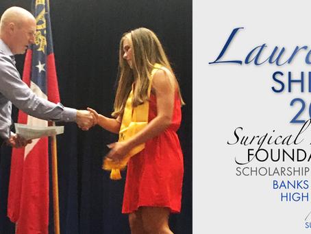 2018 Surgical Hope Foundation Scholarship Winner (Banks) - Lauren Shedd