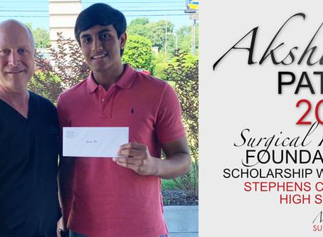 2019 Surgical Hope Foundation Scholarship Winner (Stephens) - Akshar Patel