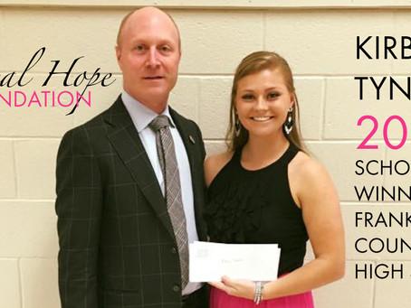 2016 Surgical Hope Foundation Scholarship Winner (Franklin) - Kirby Tyner