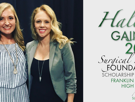 2018 Surgical Hope Foundation Scholarship Winner (Franklin) - Haley Gaines