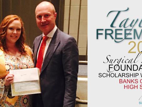 2017 Surgical Hope Foundation Scholarship Winner (Banks) - Taylor Freeman