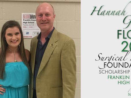 2019 Surgical Hope Foundation Scholarship Winner (Franklin) - Hannah Grace Floyd