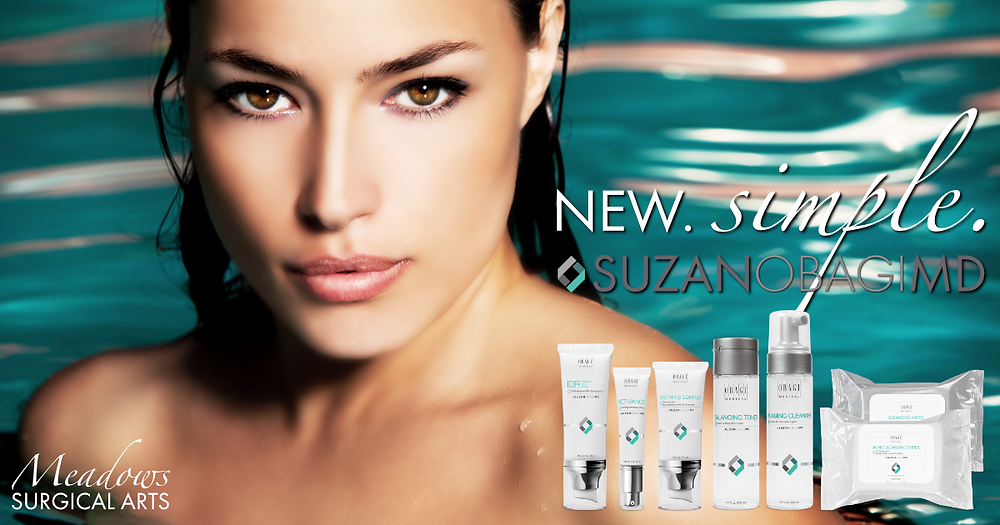 New. Simple. SUZANOBAGIMD | Skincare products | Obagi | Meadows Surgical Arts | Dr. Lionel Meadows