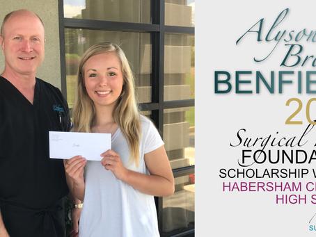 2017 Surgical Hope Foundation Scholarship Winner (Habersham) - Alyson Brooke Benfield