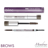blinc, blinc eyebrow mousse, blinc eyebrow pencil, blinc brow pencil, Meadows Surgical Arts