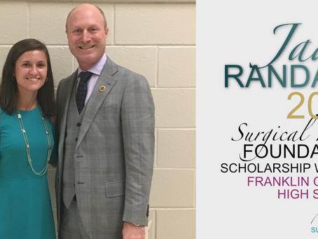 2017 Surgical Hope Foundation Scholarship Winner (Franklin) - Jade Randall