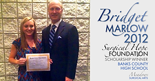 Bridget Marlow | 2012 Bank County Scholarship Winner | Meadows Surgical Arts | Cosmetic Surgery Commerce