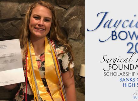 2019 Surgical Hope Foundation Scholarship Winner (Banks) - Jaycie Bowen