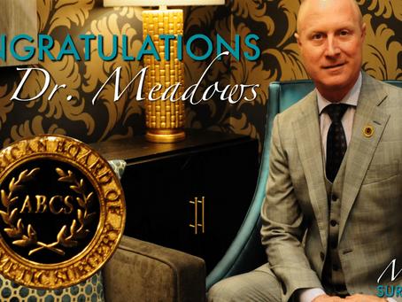 Congratulations, Dr. Meadows!