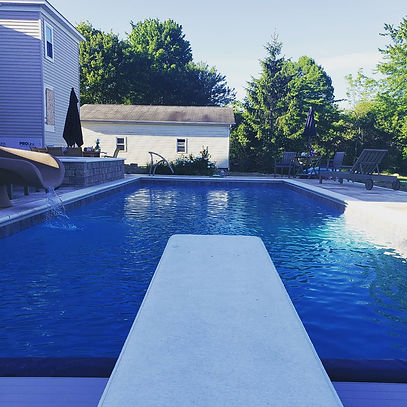 Diving Board and pool