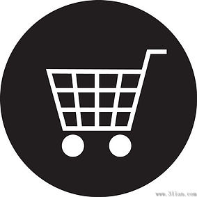 vector_black_background_shopping_cart_ic