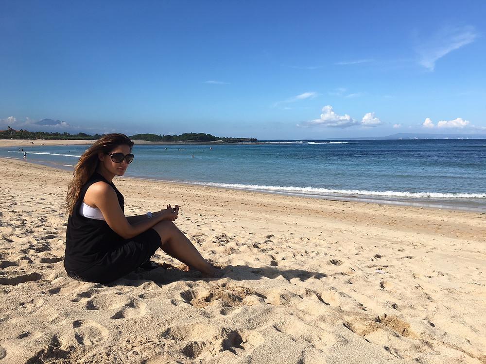 Nargis Fakhri...Relaxing on the Beach in Bali