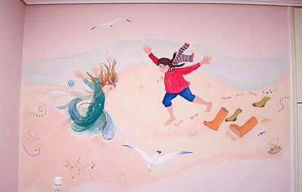 Μαρία Μπαντουβάκη Παιδικό δωμάτιο, τοιχογραφίες, ζωγραφική