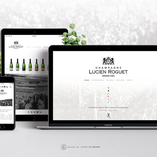Site Champagne Lucien Roguet