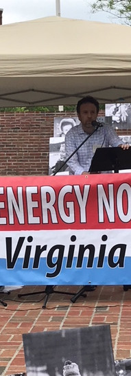 Tim O'Mara, MD, speaking at the Mother's Day Climate Rally in Fairfax on May 6, 2018