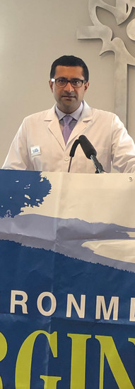 Krupal Shah, MD, MPP spoke at the Environment Virginia Trouble in the Air Report press release on 1/28/2020