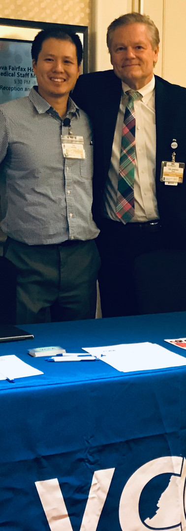 Homan Wai, MD and Paul DiLorenzo, MD tabling at an Inova Fairfax Medical Staff event on 11-19-2019