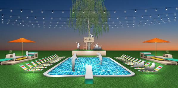 LED Pool Dance Floor