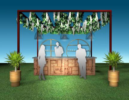 Floral  Trellis Bar