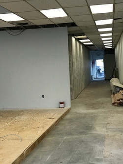 Beginning stages of new offices