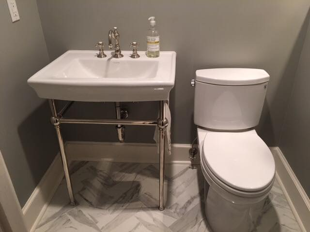 Completely new powder room