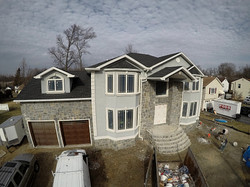 Beautiful stone siding for new home