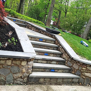 Finished stoe stairs