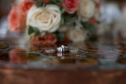 Wedding rings with roses