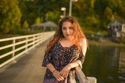 Senior girl on dock