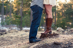Engagement Photo Boots on a beach