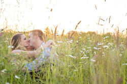 Engagement Photo in a field