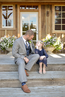 Wedding groom and daughter