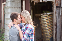 Engagement Photo on a farm