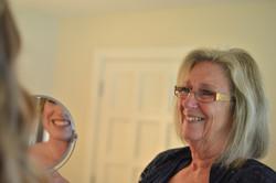 Wedding bride and mom mirror